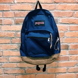 Jansport II Navy Blue Right Pack Backpack